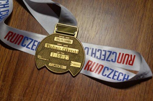 Polmaratón Olomouc pamätná medaila s rytím