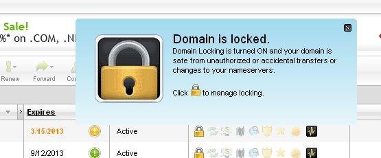 domain is locked