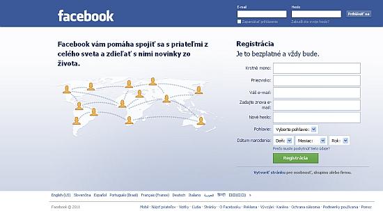 facebook prihlásenie