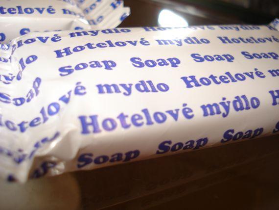 hotelové mydlo hotel Komárov