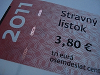 stravn listok - 3,80 - Vaa Slovensko