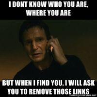 Taken - Liam Neeson - SEO meme