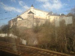 zvolenský hrad z vlaku